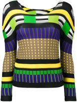 Issey Miyake colour block sweatshirt