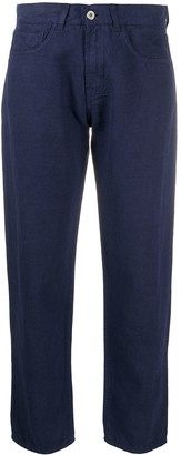 YMC Cropped Straight Trousers