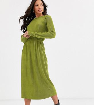 Glamorous Tall midi dress in plisse