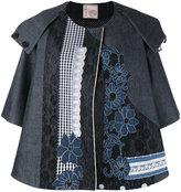 Antonio Marras appliquée oversized jacket - women - Cotton/Polyamide/Polyester/Viscose - 38