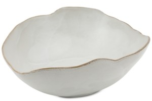 Thirstystone Asymmetrical White Glazed Ceramic Bowl