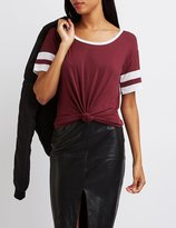 Charlotte Russe Colorblock Football Tee