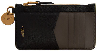 Givenchy Black and Taupe GV3 Coin Pouch