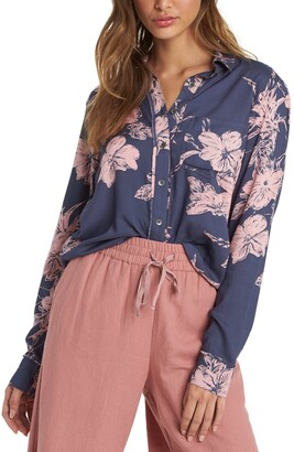 Roxy Not Now Print Button-Up Shirt