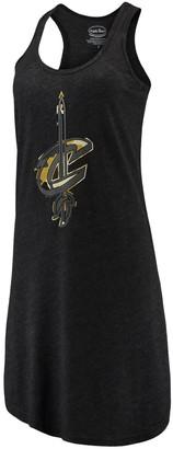 Majestic Women's Threads Black Cleveland Cavaliers Camo Pop Tri-Blend Racerback Sleeveless Dress