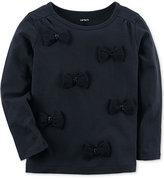 Carter's Bow Appliquandeacute; T-Shirt, Toddler Girls (2T-5T)