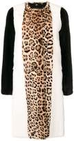Giambattista Valli animal print fur coat