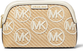 MICHAEL Michael Kors Jet Set Large Straw Travel Pouch Bag
