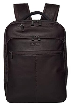 Kenneth Cole Reaction RFID EZ Scan Computer Business Backpack (Brown) Backpack Bags