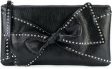 RED Valentino studded trim clutch bag - women - Sheep Skin/Shearling - One Size