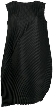 Issey Miyake Pleated Rounded Shift Dress