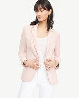 Ann Taylor Petite Triacetate One Button Jacket