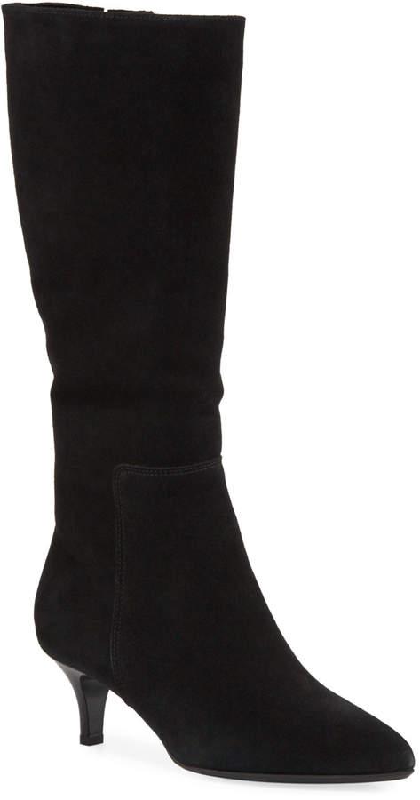 La Canadienne Drake Waterproof Kitten-Heel Knee Boots