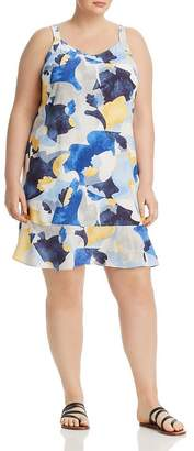 Nic+Zoe Plus Plus Sun Seeker Printed Dress
