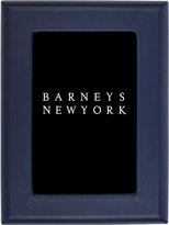 "Barneys New York Leather 4"" x 6"" Studio Picture Frame-BLUE"