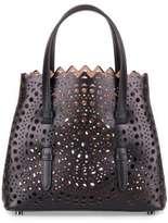 Alaia 7H1G067X Black leather cut-out mini bag
