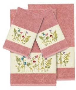 Linum Home Turkish Cotton Serenity 4-Pc. Embellished Towel Set Bedding