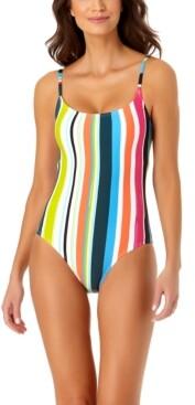 Anne Cole Clearwater Stripe One-Piece Swimsuit Women's Swimsuit