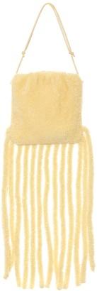 Bottega Veneta The Fringe Pouch shearling shoulder bag