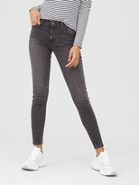 Levi's 720 High Rise Super Skinny Jeans - Grey