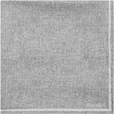 Reiss Reiss Craven - Silk Pocket Square In Grey, Mens