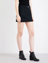 Helmut Lang A-line mid-rise stretch-cotton mini skirt