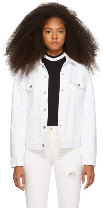 Levi's Levis White Denim Trucker Jacket
