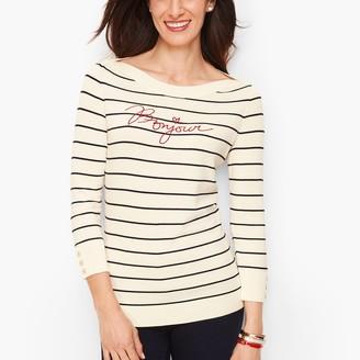"Talbots Bonjour"" Breton Stripe Sweater"