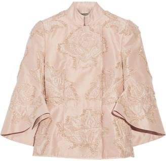 Alexander McQueen Fil Coupe Silk-blend Faille Jacket