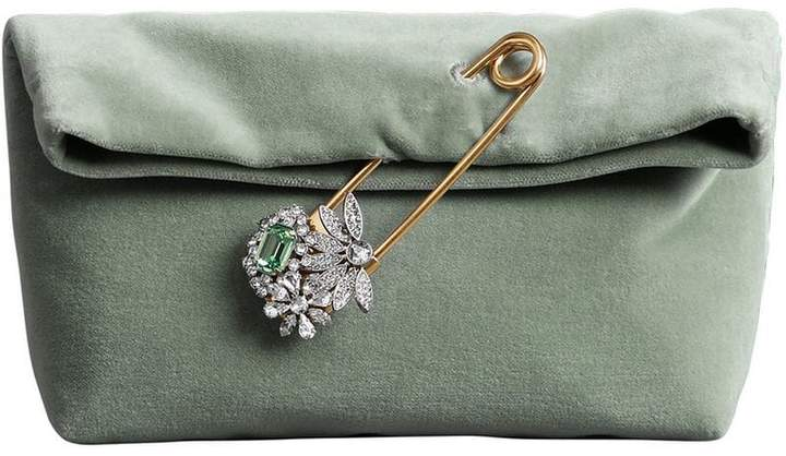 Burberry The Small Pin Clutch in Velvet