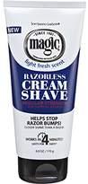 Magic Razorless Cream Shave Regular 6oz Light Fresh Scent
