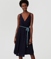 LOFT Beach Braided Tie Waist Dress
