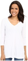 Mod-o-doc Classic Jersey Lace Layover V-Neck Tee