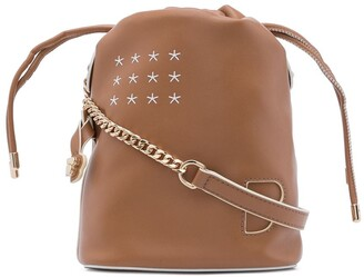 BAPY BY *A BATHING APE® Chain-Strap Leather Bucket Bag