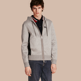 Burberry Two-tone Jersey Hooded Top , Size: Xl, Grey
