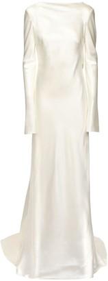 DANIELLE FRANKEL Silk & Wool Long Dress