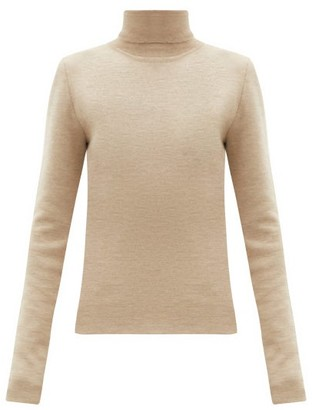 Gabriela Hearst Myers Cashmere-blend Roll-neck Sweater - Beige