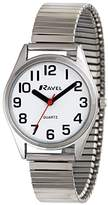 Ravel Easy Read Women's Quartz Watch with White Dial Analogue Display and Silver Stainless Steel Plated Bracelet R0225.01.2