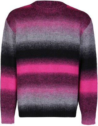 MSGM Black And Fuchsia Wool Blend Jumper