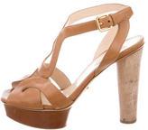 Prada Leather Multistrap Sandals