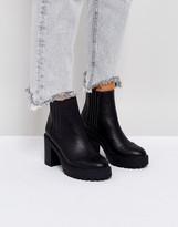 Chunky Heel Chelsea Boots - ShopStyle
