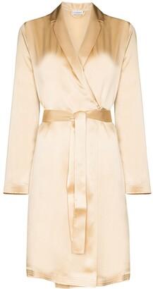 La Perla S4 short silk robe