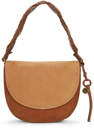 Lucky Brand Women's Crossbodies VACHETTA/NEW - Vachetta & New Cognac Woven-Strap Leather Hobo