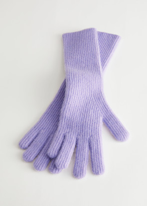 And other stories Fuzzy Ribbed Knit Gloves