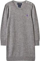 Ralph Lauren Grey Knit Cable Dress