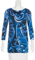 Emilio Pucci Printed Long Sleeve Top w/ Tags