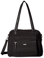 Baggallini New Classic Overnight Expandable Laptop Tote with RFID Phone Wristlet (Black) Tote Handbags