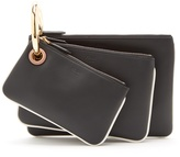 Fendi Triclutch leather clutch
