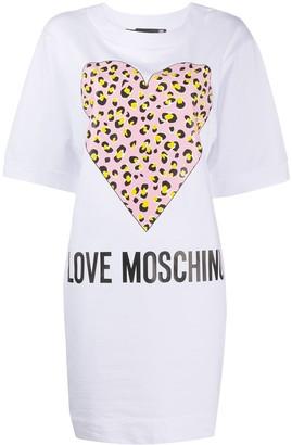 Love Moschino heart T-shirt dress