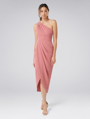 Forever New Mandy One-Shoulder Drape Maxi Dress - Queen Mauve - 4
